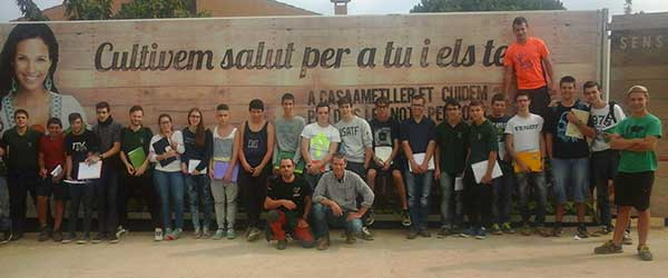 Agricultural students of 1st gm visited the enterprise called: Casa Ametller